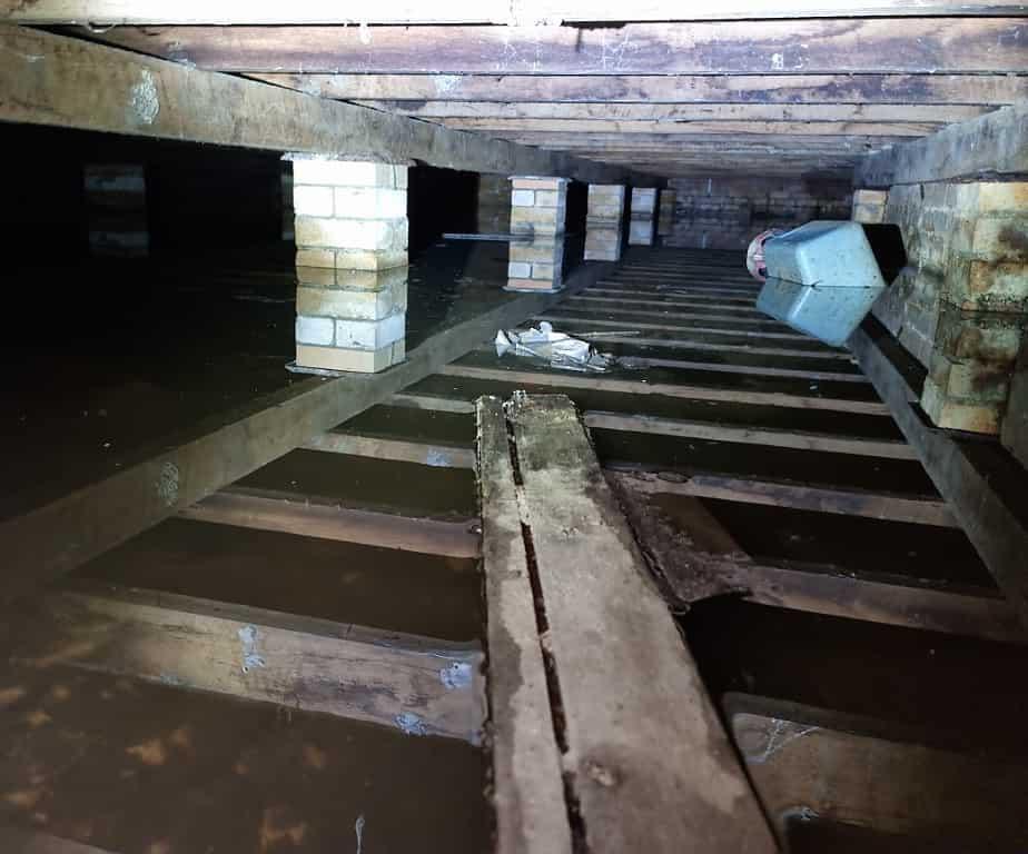 Poor drainage to subfloor